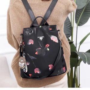 Beautiful floral backpack daypack handbag